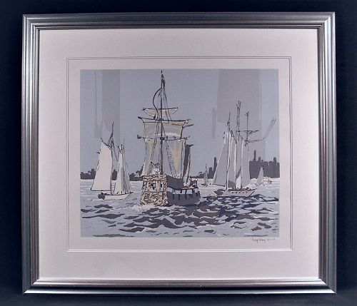 Lovely Original Serigraph, Op Sail by Philip Kelsey